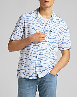 LEE White Canvas Resort Shirt