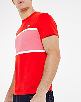 Lacoste Short Sleeve Colourblock T-Shirt