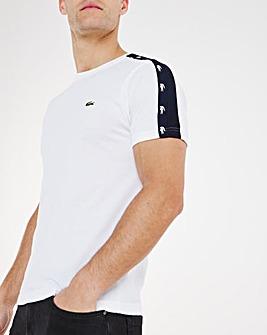 Lacoste Short Sleeve Logo Tape T-Shirt
