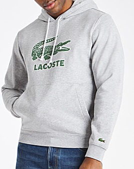 Lacoste Grey Smashed Croc Hoodie