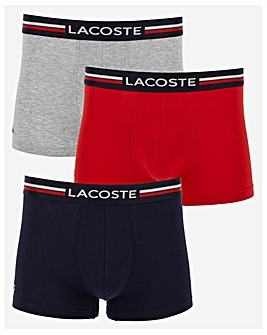 Lacoste 3 Pack Waistband Trunk