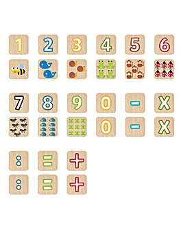 Faujas Numbers and Animals Cubes, 52pcs