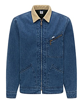 Lee Jeans 191J Corduroy Collar Denim Jacket