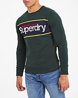 Superdry Logo Stripe Crew Sweatshirt