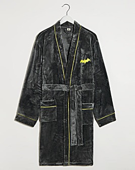 Batman Marl Grey Fleece Dressing Gown