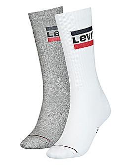 Levi's 2 Pack Sports Crew Sock