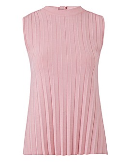 Sleeveless Pleat Jumper