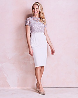 Gina Bacconi Crepe Overlay Dress