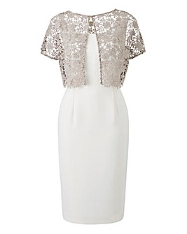 Gina Bacconi Crepe Overlay Dress 7fe8b0473