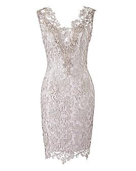 Gina Bacconi Lace Dress with Scarf