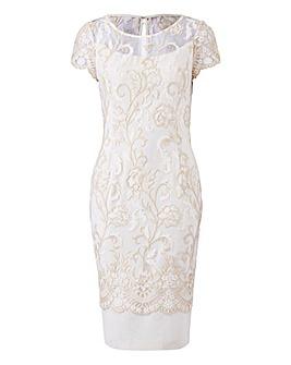 Gina Bacconi Embroidered Border Dress 1a554898e