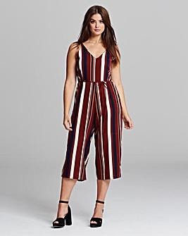 AX Paris Stripe Cullotte Jumpsuit