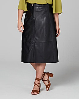 Traffic People PU Midi Skirt