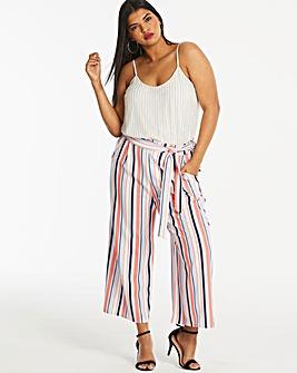 Quiz Curve Stripe Cullotte Trouser
