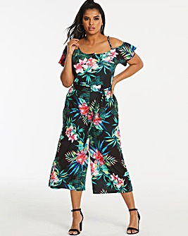 Quiz Curve Tropical Printed Jumpsuit