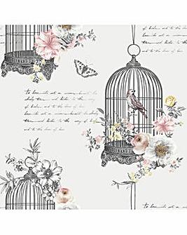 Arthouse Diamond Birdcage Wallpaper
