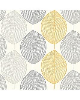 Arthouse Scandi Leaf Wallpaper