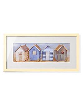 Arthouse Beach Huts Framed Print