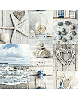 Arthouse Maritime Collage Wallpaper