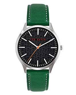 Ted Baker Gents Manhatt Leather Strap Watch