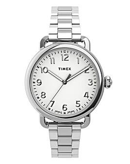 Timex Women's Standard 34mm Silver-tone Bracelet Watch