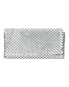 Joanna Hope Chain Mail Sparkle Clutch Bag
