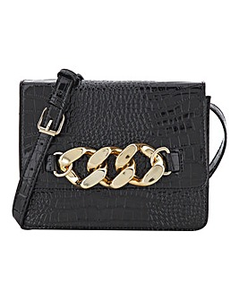 Patent Croc Chunky Chain Crossbody Bag