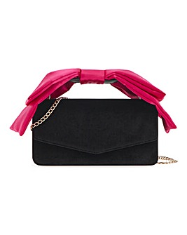 Satin Top Handle Shoulder Bag