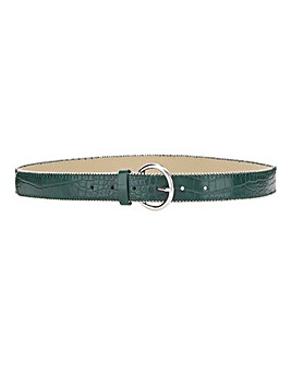 Green Croc Studd Detail Belt