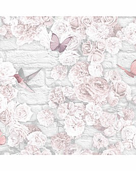 Flower Wall Wallpaper