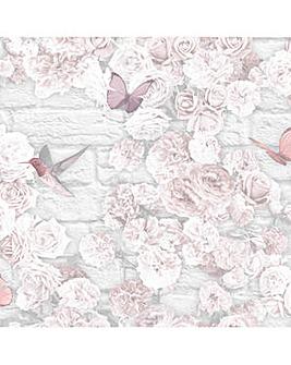 Superfresco Easy Pink Flower Wall Wallpaper