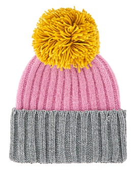 Colourblock Pom Pom Hat
