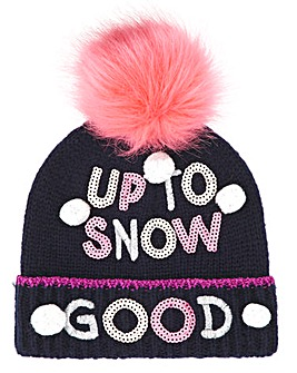 UP TO SNOW GOOD' Pom Pom Hat