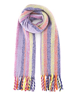 Brushed Multi Stripe Mia Blanket Scarf
