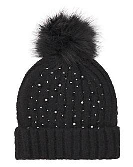 Joanna Hope Pearl Beanie Knitted Hat
