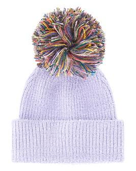Lilac Multi Zola Pom Pom Hat
