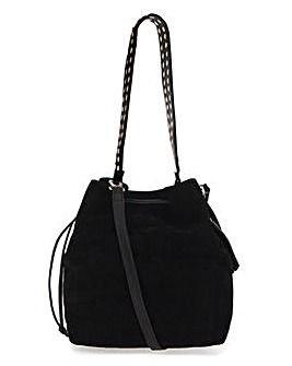 Joanna Hope Studded Suede Bucket Bag