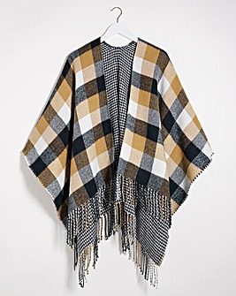 Reversible Check Poncho