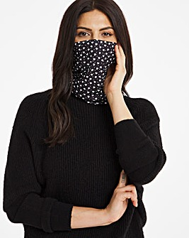 Heart and Spot Print Snood Face Covering