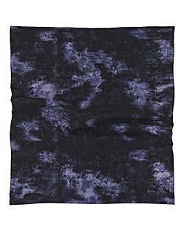 Indigo Tie Dye Print Snood Face Covering