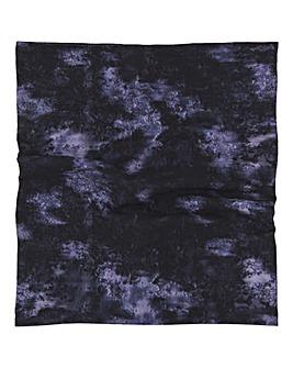 Indigo Tie Dye Print Snood Face Covering