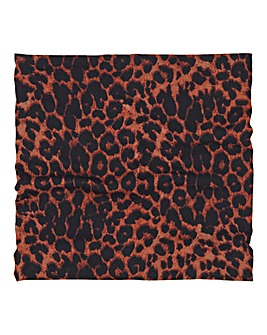 Leopard Print Snood Face Covering