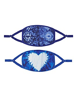 2 Pack Tie Dye Printed Face Coverings