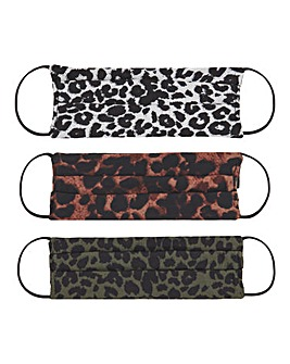 Animal Printed Face Coverings 3 Pack