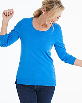 Summer Blue Crew Neck Jumper