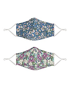 2 Pack Floral Face Covering