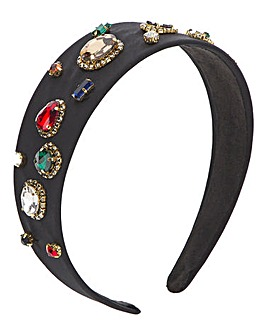 Black Jewelled Headband