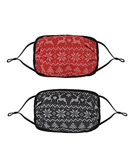 Fairsle Two Pack Face Coverings