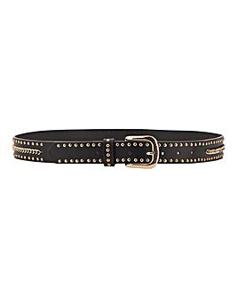 Chain & Stud Detail Belt