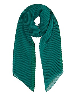 Recycled Green Crinkle Chiffon Scarf